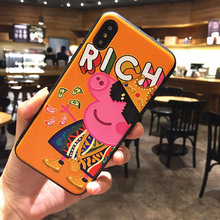 Applicable to iphone6 7 8 X XR XMAX mobile phone shell painting trend Paige TPU soft plastic drop protection sleeve