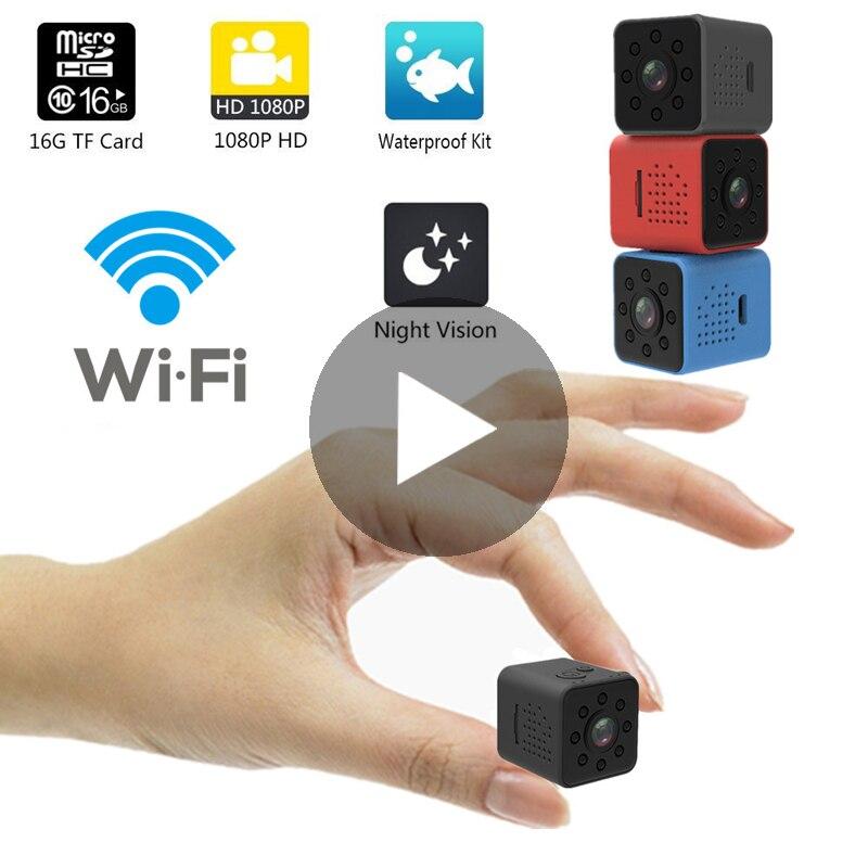 SQ23 SQ 23 IP WiFi petit Secret Micro Mini caméra vidéo caméra intelligente 1080p HD Wi-Fi Wi-Fi Vision nocturne DVR microcaméra Minicamera