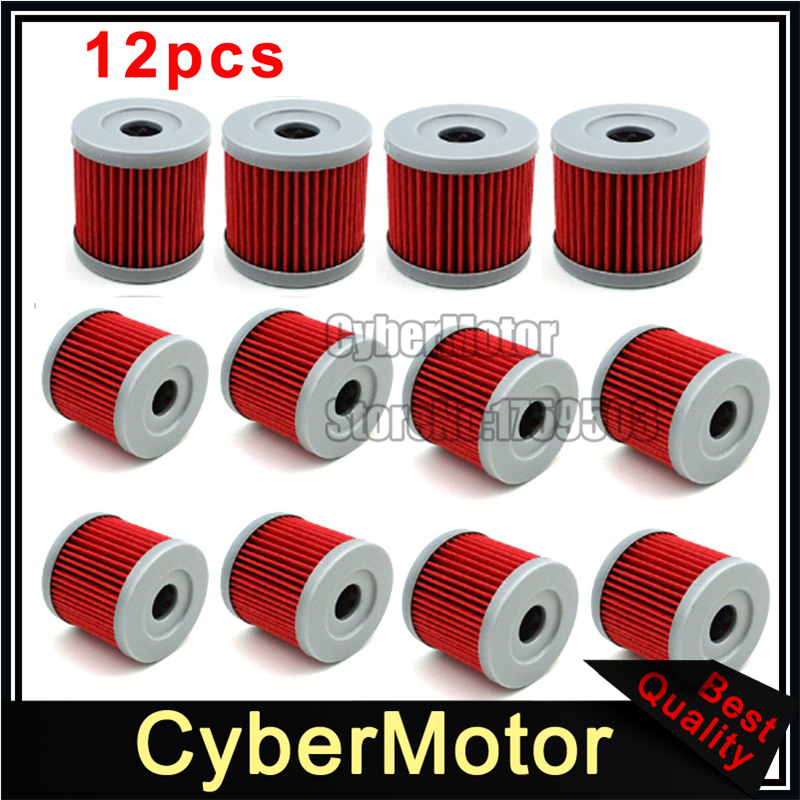 12x Oil Fuel Cleaner Filter For K157FMI Sinnis Apache 125 125cc QM125GY