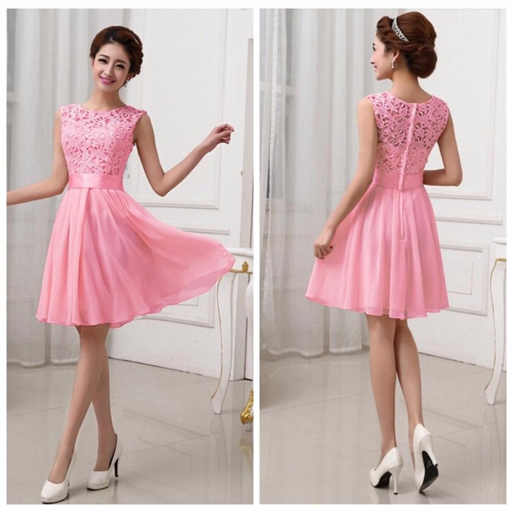11906c14951 Liva Girl Elegant Wedding Party Dress Chiffon Lace Mini Dresses For Women Prom  Summer Evening robe femme ete Vestidos De Fsiesta-in Dresses from Women s  ...