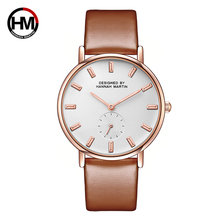 HM Fashion Top Brand Woman Watch Quartz Analog Leather Luxury Gold Wristwatch Faux Leather Simple Ultra Slim Bayan Saat Gift