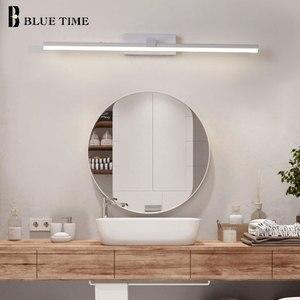 Image 2 - Yeni tasarım moda LED duvar lambaları banyo başucu Modern ayna ön işık siyah & beyaz bitmiş LED duvar ışıkları AC220V110V