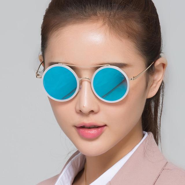 4f1fc13b9 Retro Round Sunglasses Women Men's Driving Sun Glasses Polarized Mirror  Shades With PC Circle On the