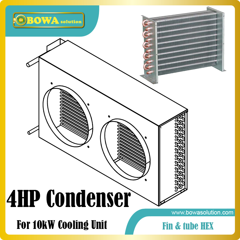 4HP fin & tube heat exchanger suitable for variable refrigerant flow air conditioner systems for household or villa dc12v variable speed compressor suitable for truck cabin air conidtioner or boat air conditioner with controller