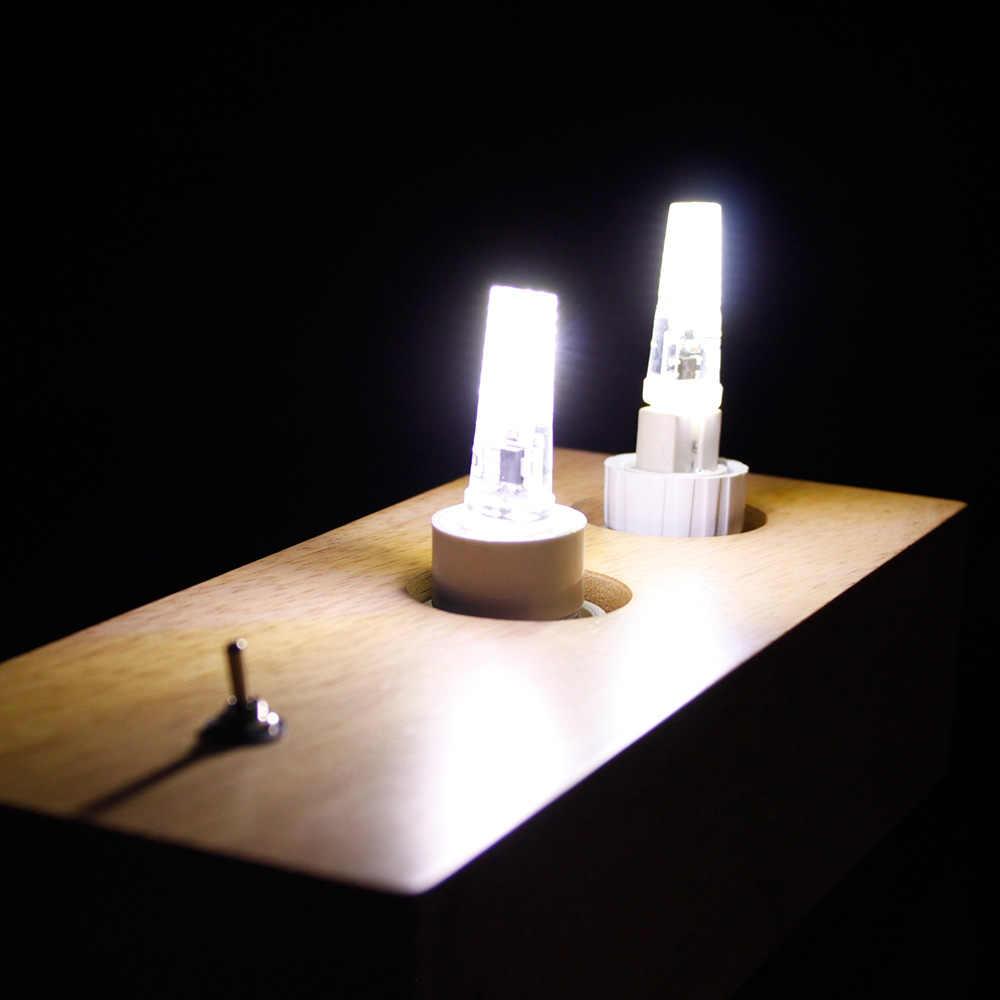10 pcs/lot G4 G9 E14 lampe à LED AC/DC 12V 220V 3W 6W haute qualité LED G4 COB LED ampoule lustre lampes remplacer la lumière halogène