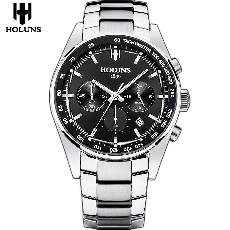 Prix pour Mens montres à quartz top marque de luxe 24mm en acier inoxydable bande de montre sport montre pour hommes avec montre outils orologio uomo/HS002