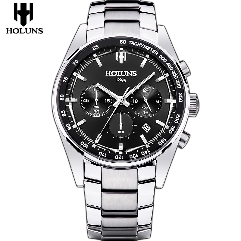 relojes hombre 2017 top brand luxury 24mm full stainless steel man watch band sport watch for