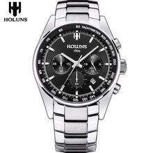 Relojes hombre 2017 top marque de luxe 24mm complet en acier inoxydable homme bande de montre sport montre pour hommes montres avec montre outil