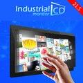 "21.5 de polegada de metal incorporado quadro HD 1920*1080 tela de toque resistivo monitor industrial 21.5 ""LCD monitores de tela de toque para venda"
