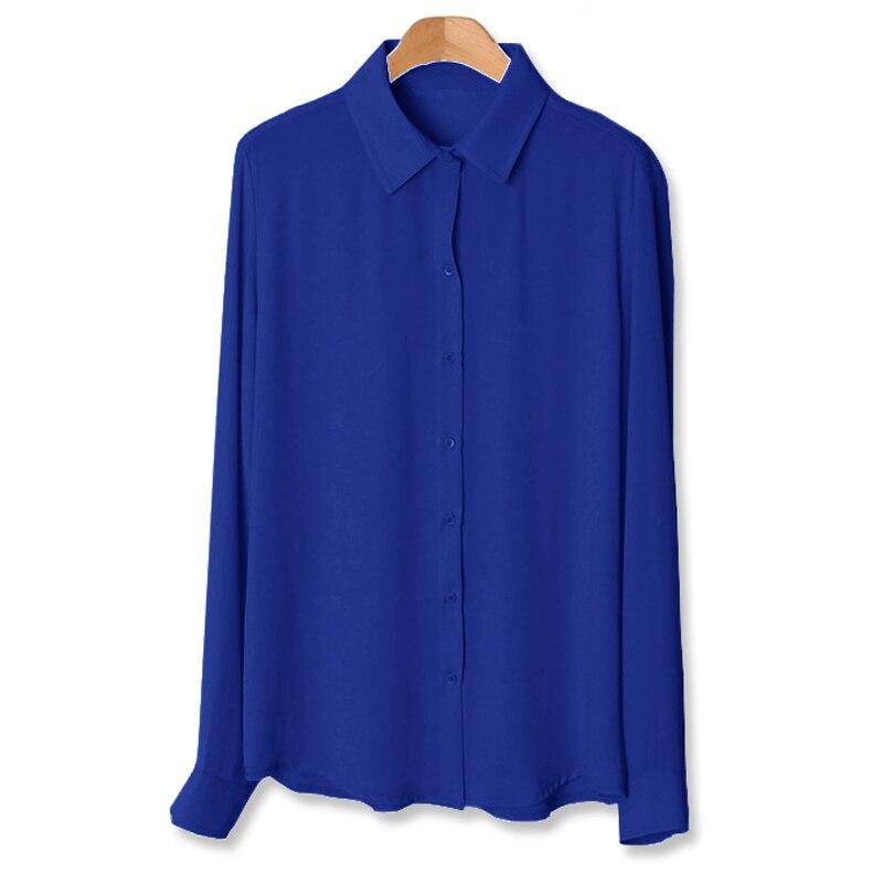 2016 plus size s xxxxl 6xl new fashion basic chiffon for Basic shirts for women
