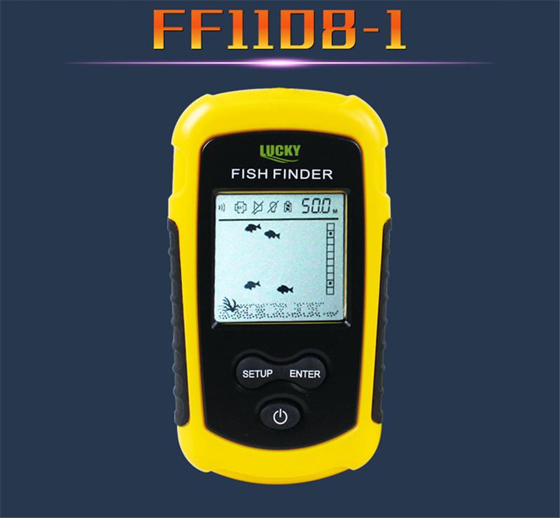 Lucky Sonar Fish Finder Alarm FF1108-1 100M Portable Sonar Sensor LCD Fishfinder Deeper Echo Sounder Transducer for Fishing Lure (3)
