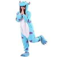Adult Animal Onesie Monster SULLEY Onesie Halloween SULLEY Clothing Cosplay Sullivan Costume Pajamas Onesies Jumpsuit Sleepwear