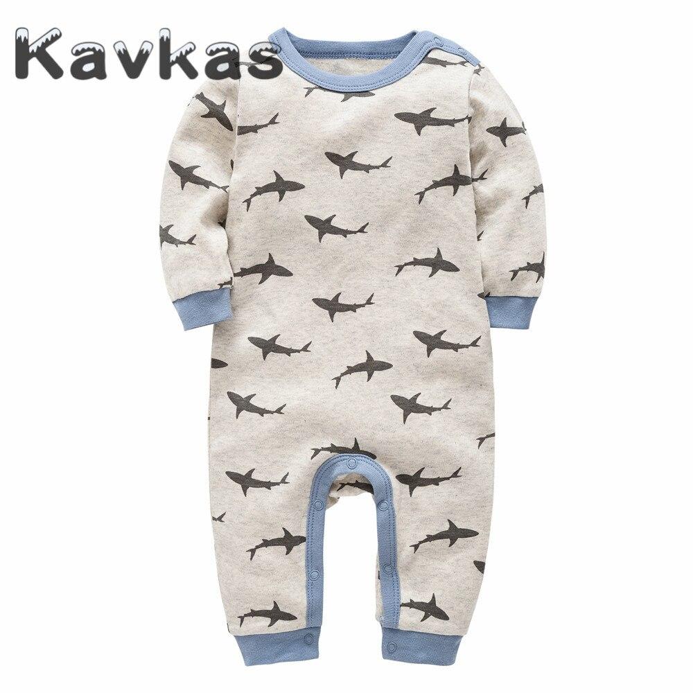a176b777 Cheap Kavkas 2019 bebé recién nacido Romper primavera otoño ropa de algodón  cuello redondo 0 12