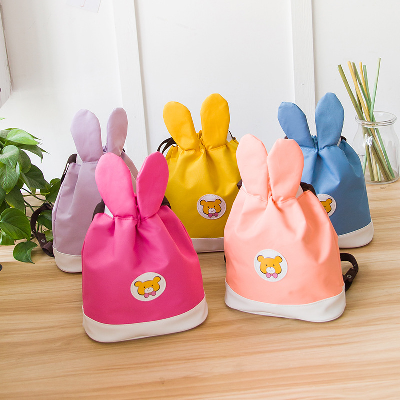 Popular Brand New Baby Girl Backpack Childrens Bag Fashion Cute Rabbit Ears Double Shoulders Backpack Baby Backpack Accessories Mother & Kids Backpacks & Carriers