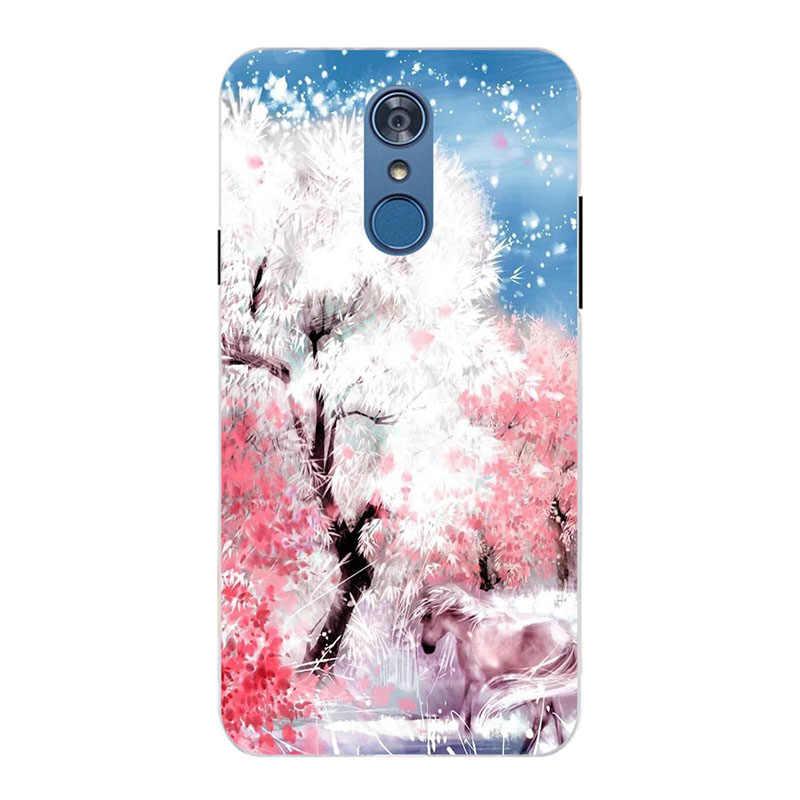 Чехол для LG Q7 чехол Чехол из мягкого силикона с милым котиком чехол для телефона чехол для LG Q7 Q 7 Plus Q7 + обложка чехол для LG Q7 alpha чехол Capa