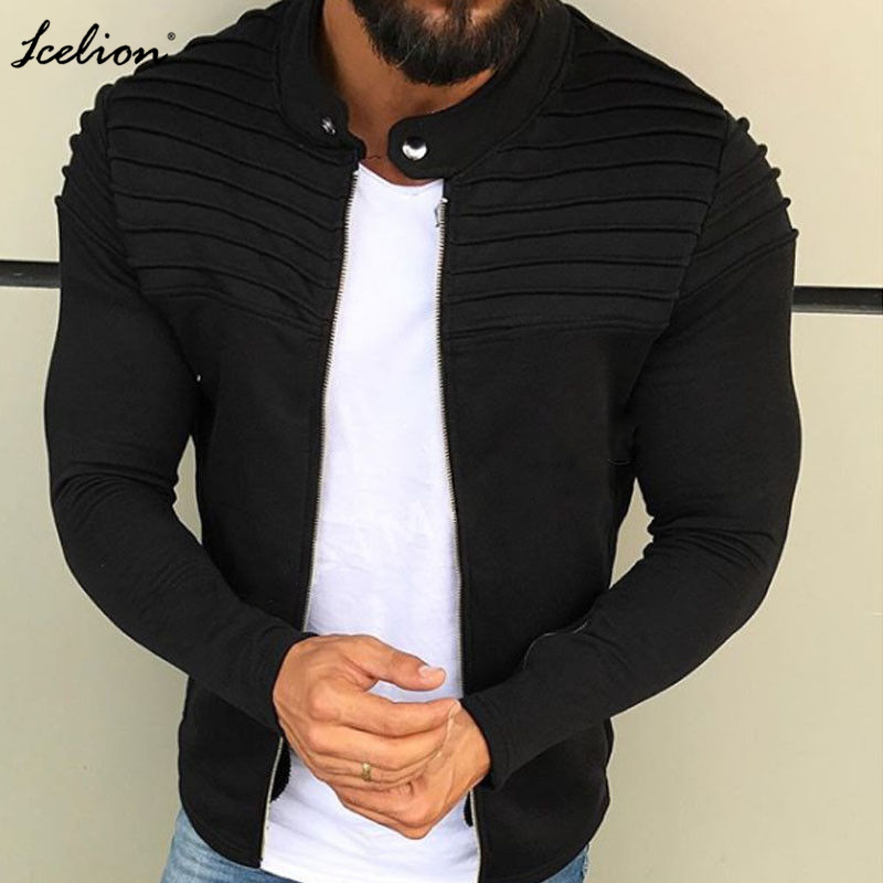 IceLion 2019 Autumn Coat Jacket Men Fashion Fold Jackets Windbreaker Man Casual Brand Clothing Top Quality Outerwear Plus Size