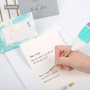 Image 4 - Nooit Lichtblauw Briefpapier Set Lakzegel Sets Kaart Enveloppen Veer Pennen Kit Gift Briefpapier Sets School En Kantoorbenodigdheden