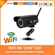 FTP Detección de Movimiento WiFi 1.0MP HD 1280×720 P Cámara Bullet IP 802.11b/g/n Inalámbrica Al Aire Libre impermeable Cámara de Red de Vigilancia