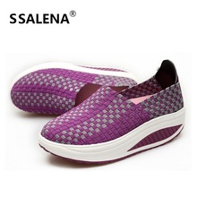 Women Sports Shoes Outdoor Walking Shoes Female Handmade Breathable Shook His Slimming Shoes Damping Sneakers #D103