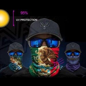 Image 5 - BJMOTO UV Protection Head Scarf Neck Motorcycle Cycling Ghost Skull Face Mask Ski Balaclava Headband Face Shield Bandana