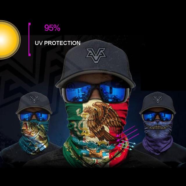 BJMOTO UV Protection Head Scarf Neck Motorcycle Cycling Ghost Skull Face Mask Ski Balaclava Headband Face Shield Bandana 4