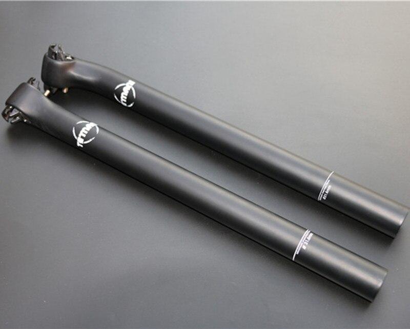 TEMANI Matte Full Carbon Seat Tube Seat Post MTB Bike Seatpost Bike Parts 27.2*350/400mm