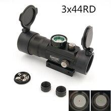3X44 RD Тактический Red Dot охотничий оптический прицел Fit рейку 11 мм/20 мм прицел