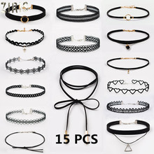 ZIRIS Choker Necklace Black Lace Velvet strip woman Collar Party Jewelry Neck accessories chokers handcrafted Chain Necklace