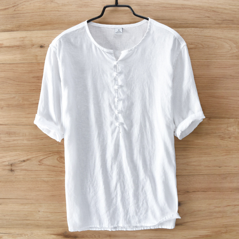 Online Get Cheap Collarless White Shirt -Aliexpress.com | Alibaba ...