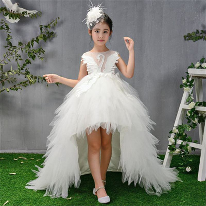 2019 Teenage Girls Lace Feather Tutu Princess Dress Kids Dresses For Girls Wedding Party Baby Girl Dresses Clothes Vestidos L2052019 Teenage Girls Lace Feather Tutu Princess Dress Kids Dresses For Girls Wedding Party Baby Girl Dresses Clothes Vestidos L205