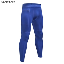 GANYANR Running Tights Men Basketball Sports Skins Leggings Fitness Gym Compression Pants Bodybuilding Training Jogging Football