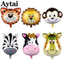 hot deal buy ourwarm 6pcs big animals ballons helium party ballons happy birthday banner kids birthday party decor party decoration balloons