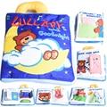 Urso Macio Livro de Pano Do Bebê Aprendizado & Educação Fantoches de Dedo Tecido Infantil Livros de Pano do Bebê No Início Da Educação brinquedos Presente Criativo