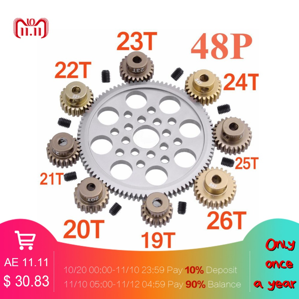 14 Pcs Metal 48P Spur Gear 92T 85T 80T 18T Brush / Brushless Motor Pinion Gears 19T for Sakura D3 XI Zero S 1:10 RC Drift Car 216 0683010 216 0683013 216 0683008 page 9