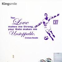 Cristiano Ronaldo Rakam CR7 Duvar Sanatı Çıkartmaları İlham Tırnaklar Vinil Çıkarılabilir Duvar Duvar Sticker DIY Çocuk Odası Ev Dekor Için