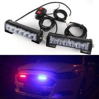 2Pcs Set 6 LED Car Emergency Beacon Warning Hazard Flash Strobe Light 12V CSL2018