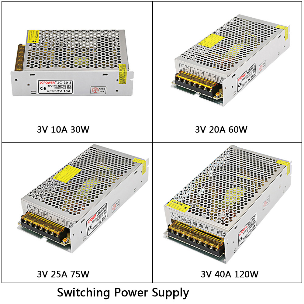 DC3V 10A/20A/25A/40A 180W <font><b>led</b></font> Switching Power Supply AC110V 220V to DC <font><b>3V</b></font> <font><b>led</b></font> <font><b>Driver</b></font> Transformer For <font><b>LED</b></font> Strip Light CNC image