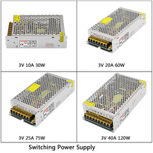 DC3V 10A/20A/25A/40A 180W led Switching Power Supply AC110V 220V to DC 3V led Driver Transformer For LED Strip Light CNC free shipping ac110v 220v dc 12v 15a 180w voltage transformer 12v15a switch power supply adapter driver for light led strip
