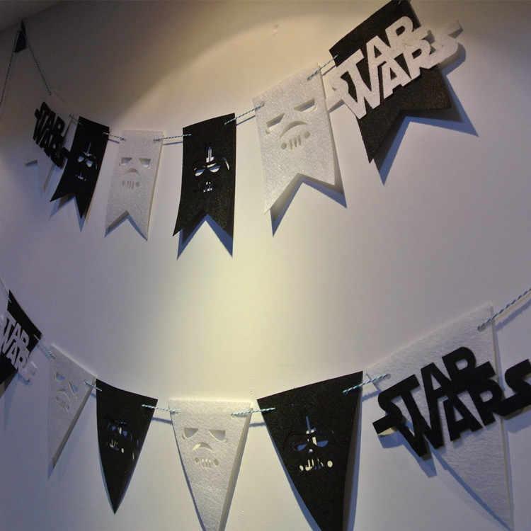 Starwars Drapeau En Feutre 3 Metres Decoration De Fete D Anniversaire Banderole Pour Enfants Fournitures En Tissu Pour Enfants Aliexpress