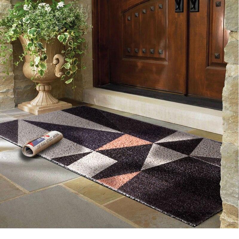 11 tailles motif géométrique tapis de porte tapis de sol pour porche tapis anti-dérapant paillasson décor à la maison entrée couloir tapis de sol