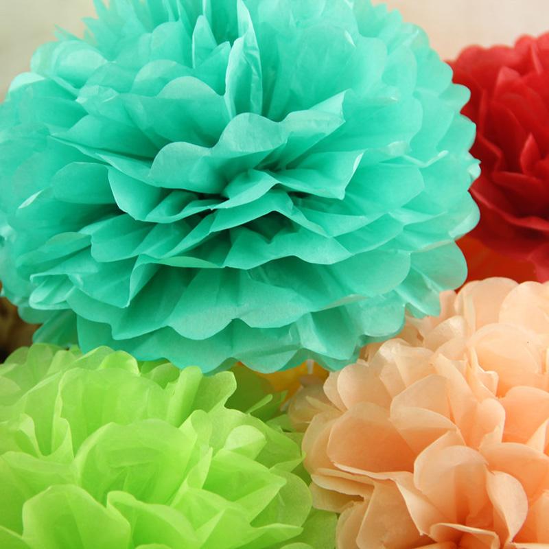 cm pulgadas de papel tissue pompn bolas de flores para la fiesta de bodas en casa artesanas de decoracin de coches de