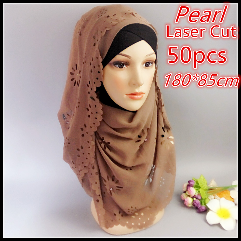 35091f872ca7d A 27 Top sale laser cut 180 85cm bubble chiffon hijab headband shawl summer  muslim scarves scarf