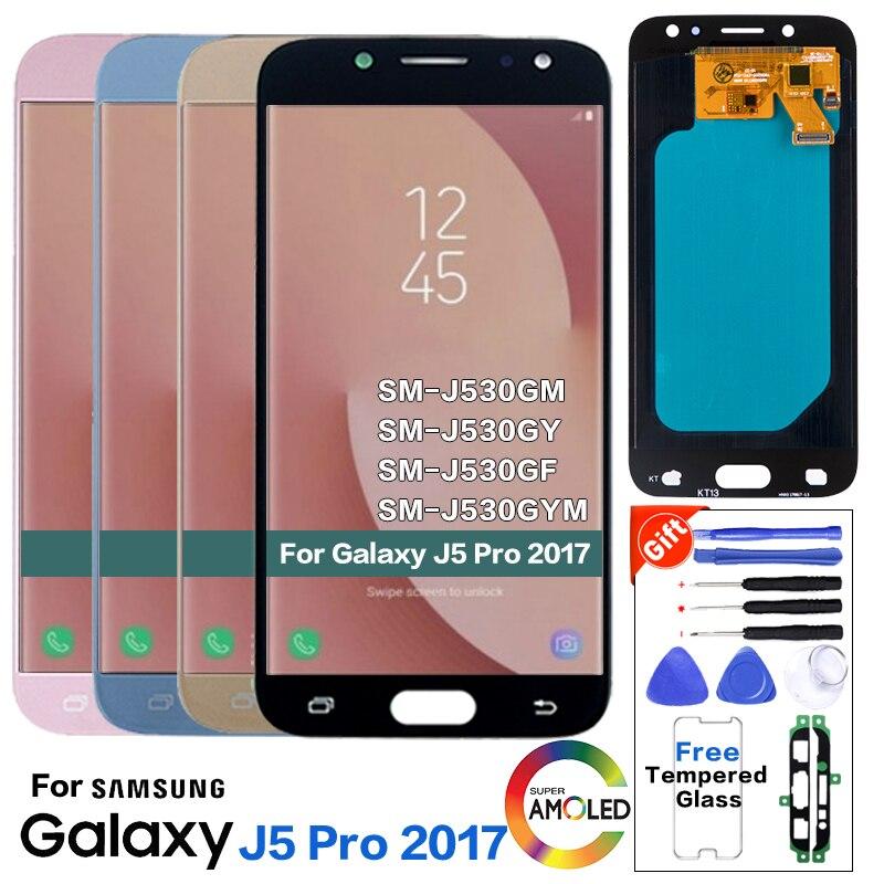 AMOLED pour Samsung Galaxy J5 Pro 2017 SM-J530F écran LCD remplacement pour Samsung SM-J530GM J530Y J530YM module d'affichage