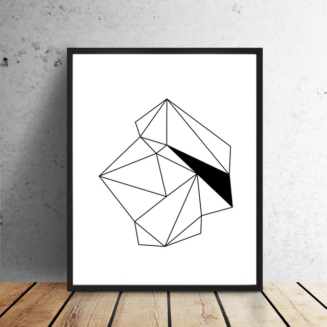 Drawing Smooth Lines Canvas : Amazing black white nordic minimalist triptych geometric