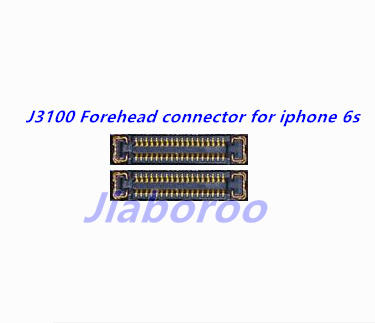 10pcs/lot J3100 Forehead earpiece Front camera FPC connector for iphone 6s 4. 7 on motherboard image