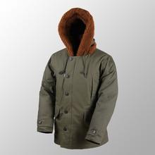 Repro US Army B 11 Winter Parka Green Military Uniform Vtg Mens Long Cotton Coat