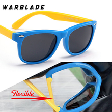 WarBLade, цветные гибкие детские солнцезащитные очки, поляризованные очки, высокое качество, HD линзы, защитное покрытие для детей, зеркальные оттенки