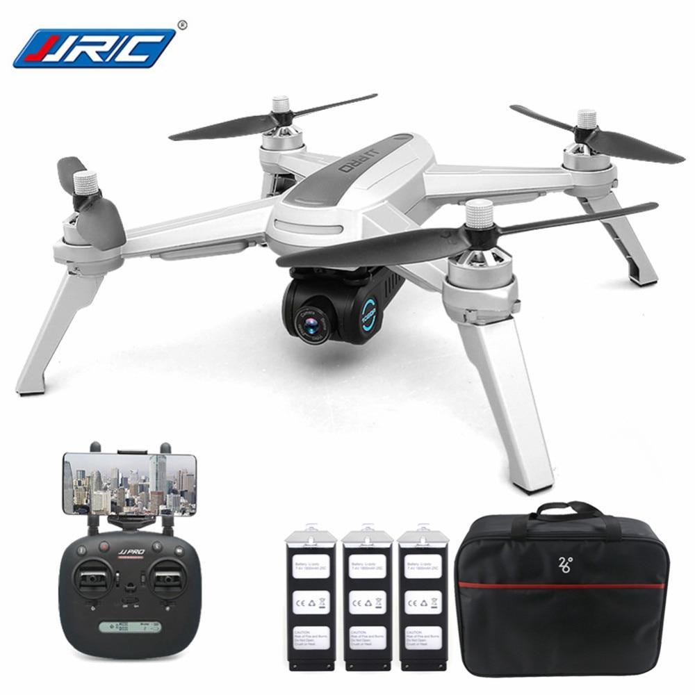 Nouveau JJRC JJPRO X5 5G WiFi FPV Professionnel drone rc Brushless GPS Positionnement Maintien D'altitude 1080 P Caméra Avec 3 batteries 1 Sac