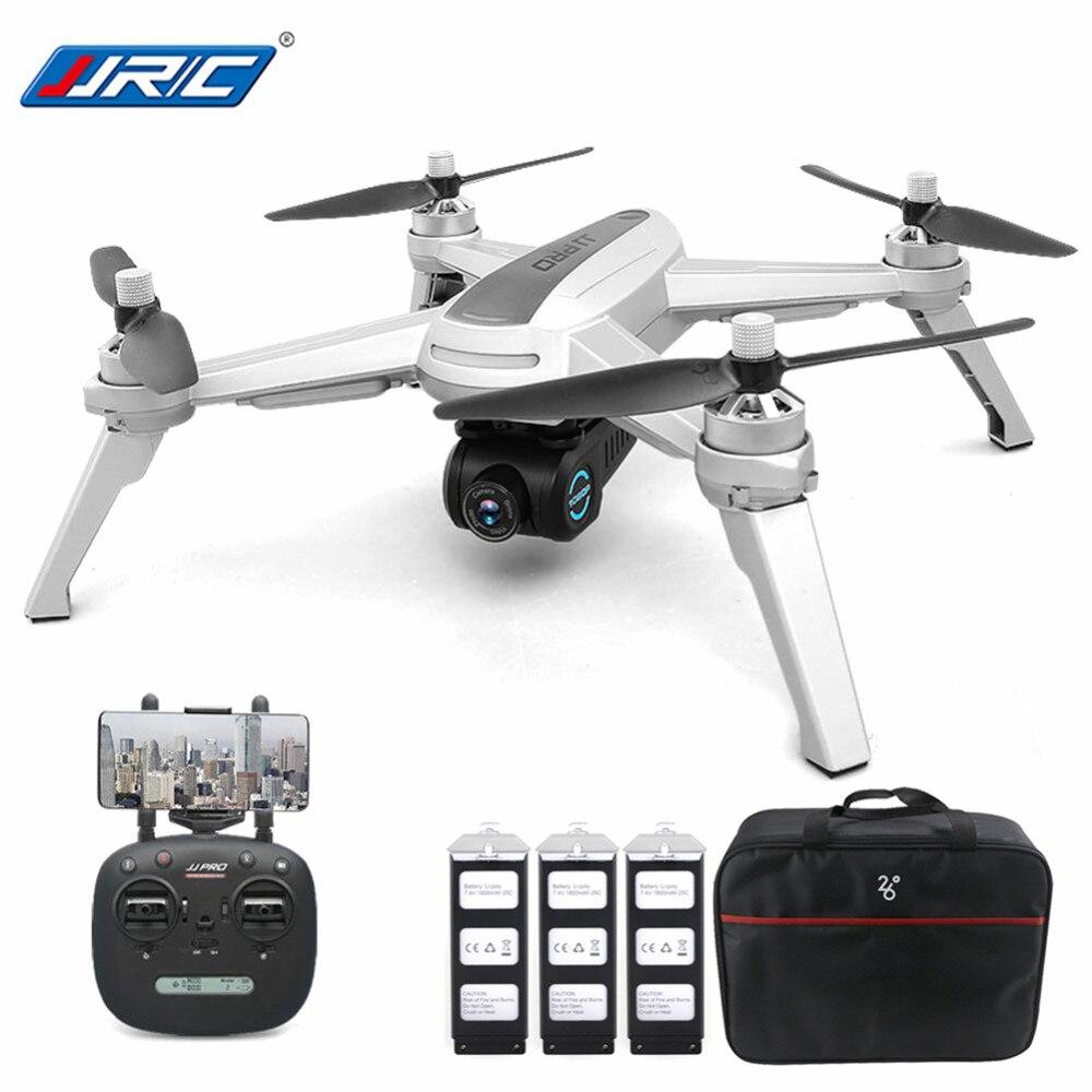 Nuovo JJRC JJPRO X5 5g WiFi FPV Professionale RC Drone Brushless GPS di Posizionamento il Mantenimento di Quota 1080 p Con La Macchina Fotografica batterie 3 1 borsa