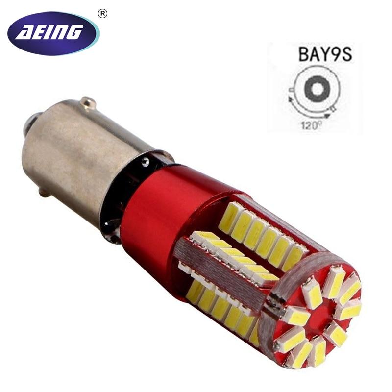 AEING 1pc 12V Super Bright BAY9s H21W 433D 3014 57SMD No OBC Canbus Error Free Led